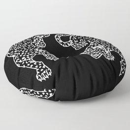 Big Cat Showdown Floor Pillow