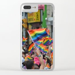 Gay Pride March Clear iPhone Case