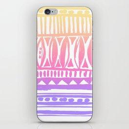 sunrise tribal print iPhone Skin