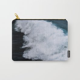 Powerful breaking wave in the Atlantic Ocean - Landscape Photography Carry-All Pouch