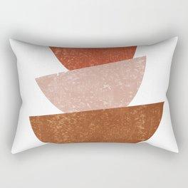 Abstract Bowls 2 - Terracotta Abstract - Modern, Minimal, Contemporary Print - Brown, Beige Rectangular Pillow