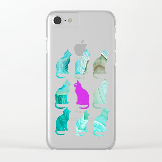 MINERAL CATTERN Clear iPhone Case