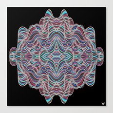 Abstract Waves of Thoughts Canvas Print