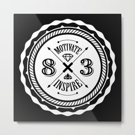 Motivate & Inspire (White) Metal Print