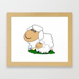 Sheep With Lamb Framed Art Print