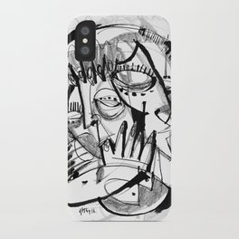 Here for Each Other - b&w iPhone Case