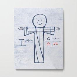 Jesus Christ and symbols Metal Print