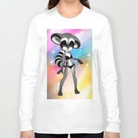 anime Long Sleeve T-shirts featuring Anime Raccoon by Simone Gatterwe