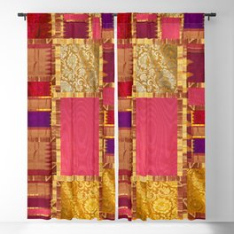 """""""Exotic fabric, ethnic and bohemian style, patches"""" Blackout Curtain"""