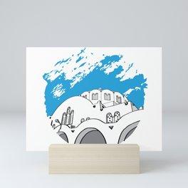 Santorini SKY CIRCLE Mini Art Print
