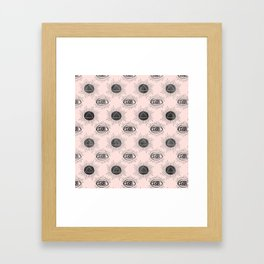 Eye of wisdom pattern - Pink & Black - Mix & Match with Simplicity of Life Framed Art Print