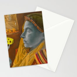 Dream caused by the flight of a cliff racer around a guar a second before awakening Stationery Cards