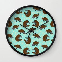 Platypus Love Wall Clock