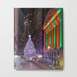 Wall street Christmas Metal Print