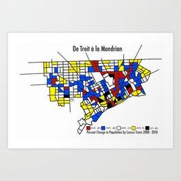 De Troit a la Mondrian Art Print