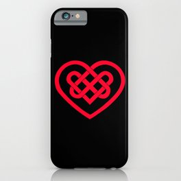 Celtic Heart (Dark) iPhone Case