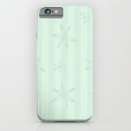 Mid Century Modern Pale Green iPhone Case