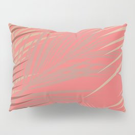 Palms Shadow on Living Coral Pillow Sham