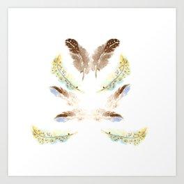 feather feelings Art Print