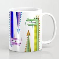 dragon Mugs featuring Dragon by Sloe Illustrations