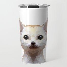Geometrical Polygon Exotic Pet Fennec Fox Travel Mug