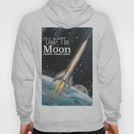 visit the moon vintage science fiction poster Hoody