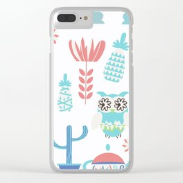 Travel pattern 3vb Clear iPhone Case