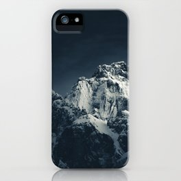 Darkness and mountain iPhone Case
