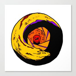 Yellow and Red Dragon Canvas Print