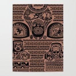 Maui Tattoos Inspired Moana Poster