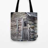 cabin pressure Tote Bags featuring Cabin by courtney2k ⚓ design™