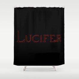 Archangel Lucifer with Feather Dark Shower Curtain