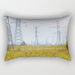 Landscape with power lines Rectangular Pillow