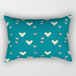 Teal heart Rectangular Pillow
