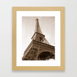 Sepia Eiffel Tower Framed Art Print