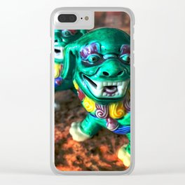 Foo Dog3 Clear iPhone Case
