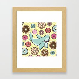 Drooling over Donuts Framed Art Print