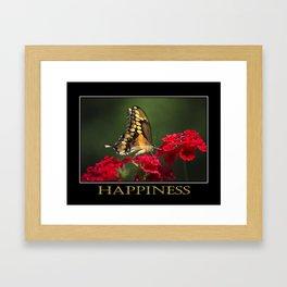 Inspiring Happiness Framed Art Print