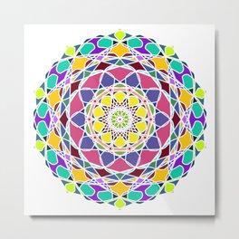 Universum Style Mandala Metal Print