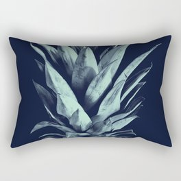 Navy Blue Pineapple Dream #1 #tropical #fruit #decor #art #society6 Rectangular Pillow