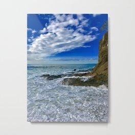 Victoria Beach at High Tide Metal Print
