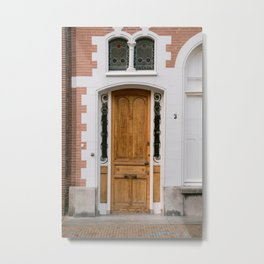 old door in the Neterlands in the city Hoorn near by Amsterdam Metal Print