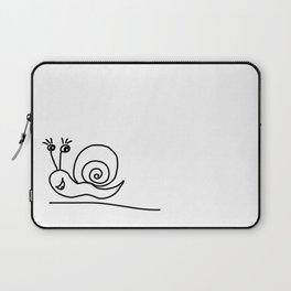 Funny Little Snail Laptop Sleeve