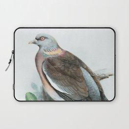 Pigeon Watercolor Bird Art Laptop Sleeve