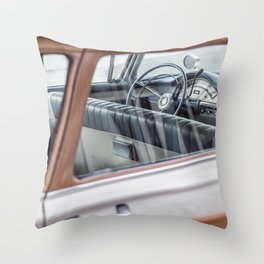 Vintage car brown 4 Throw Pillow