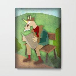 Wise Old Unicorn Metal Print