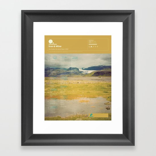 The Visual Mixtape 2010 | Our Endless Numbered Days | 11 / 25 Framed Art Print