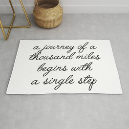 a journey of a thousand miles Rug