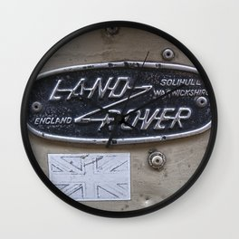 Vintage Land Rover Sign Badge Wall Clock