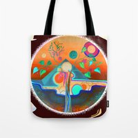 pyramid Tote Bags featuring pyramid by Lara Gurney